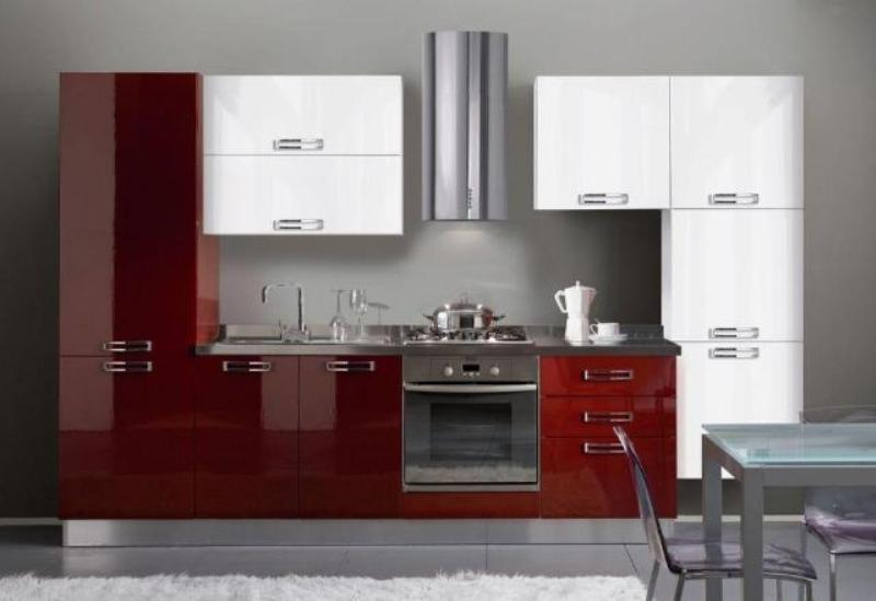 Rechte keukens zona cucina